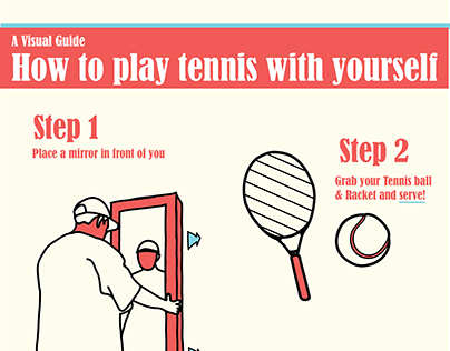 How to play tennis with yourself. A Visual Guide