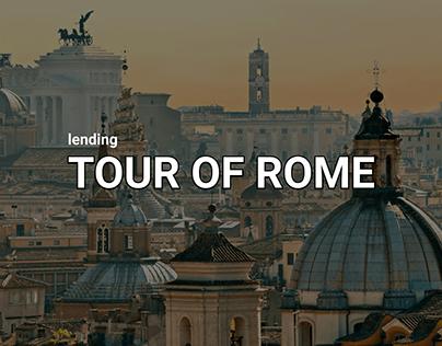 lending TOUR FOR ROME   UI/UX   Branding