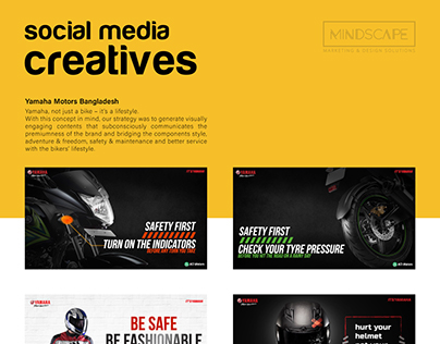 Social Media Graphics for Yamaha Motors Bangladesh