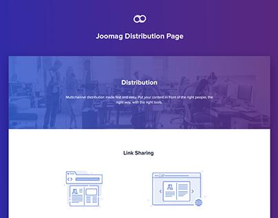 Joomag Distribution Page