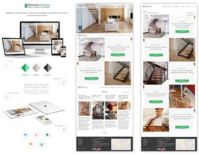 Разработка концепции сайта для магазина лестниц.
