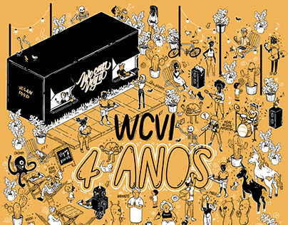 We Can Veg It - 4 years illustration