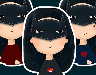 Sticker Pack Batgirl