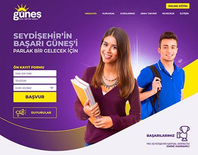 GÜNEŞ ÖZEL EĞİTİM KURSU WEB SİTESİ