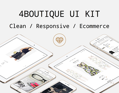 4Boutique Responsive Ecommerce UI KIT .Sketch