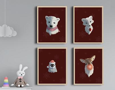 Animal Prints - Snowfall Collection