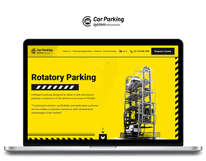Custom Website for Car Parking System