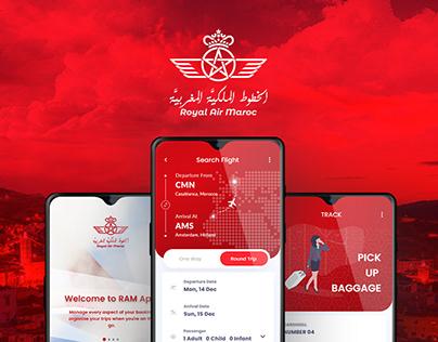 Moroccan airlines UI/UX App re-design Case Study