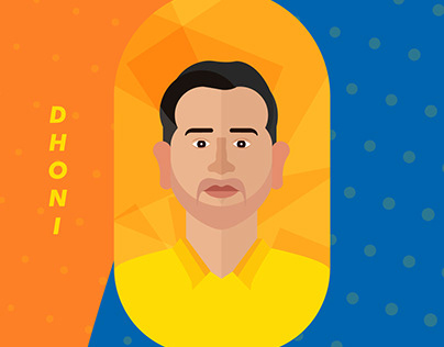 Chennai Super Kings Players Illustrations