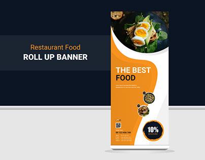 Restaurants Food Roll Up Banner