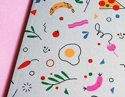 Foodie notebooks for Paperole.