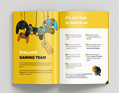 "Brochure for game design&development company ""Stallion"""