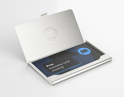 Freebusiness card holder mockup