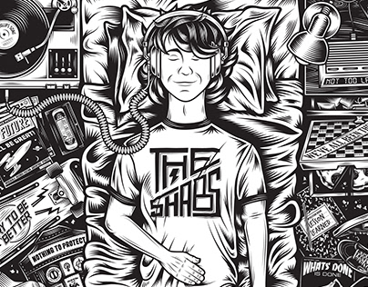 Can You Hear Us At The Back LP and T-shirt Artwork