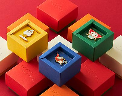 中田郁美藝術作品徽章 包裝設計
