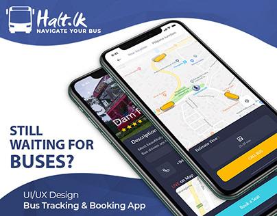 Halt.LK | Bus Tracking & Booking App (UI/UX)