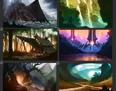 Color thumbnail sketches