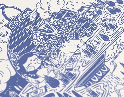 Home-themed series illustration《思念》主题系列插画