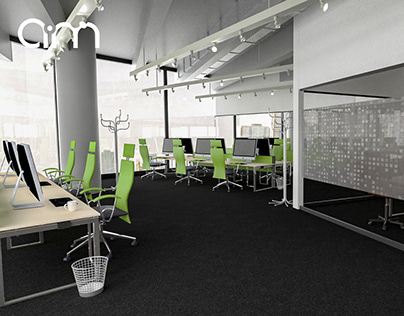visualizations of the interiors of the Krakow office!