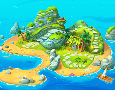 Test stage - Island (map) for SoftGame