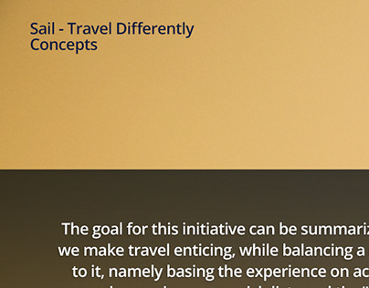 Sail Travel Differently Concepts