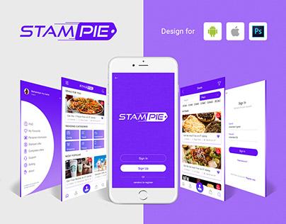Stampie Mobile App Design - Android & IOS 2018.
