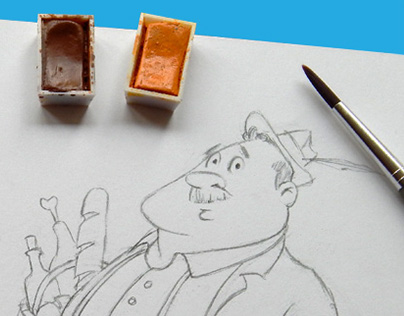 Hand-drawn Characters for Children's Books