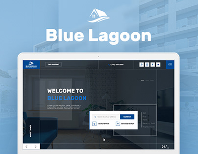 Blue Lagoon — Real Estate Website Theme UX/UI