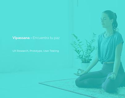 Vipassana - UX/UI Case Study
