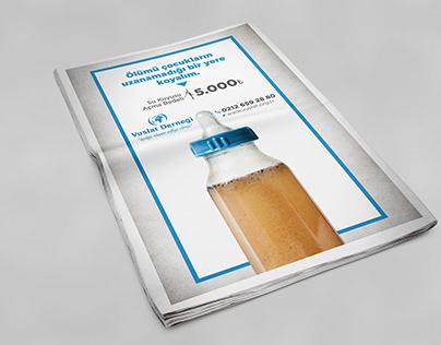 Gazete Reklamı - Su Kuyusu (Sosyal Duyarlılık)