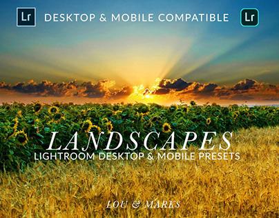 Landscape Desktop & Mobile Presets