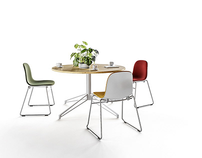 CGI shots - Form stacking chair