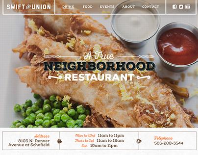 Swift and Union Restaurant Website Design & Development