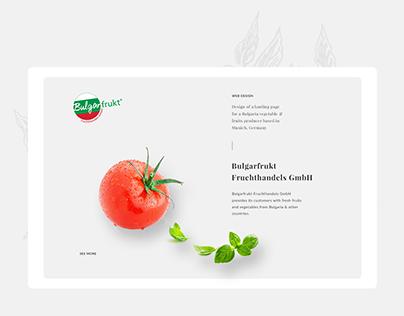 Bulgarfrukt Landing Page Design