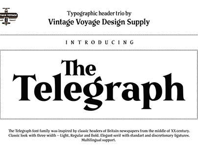 The Telegraph • Typographic trio