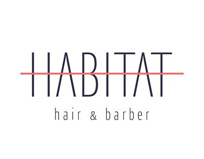 LOGO, HABITAT - HAIR & BARBER