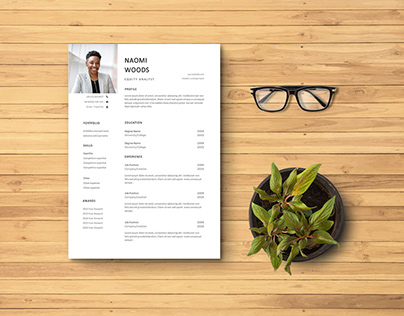Free Equity Analyst Resume Template with Simple Look