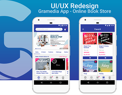 Gramedia - Mobile App | UI/UX Redesign