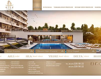 Erce İnşaat Logo ve Web Tasarım (2012)