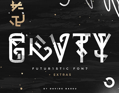 GRVTY – Futuristic FontBy:Davide Bassu