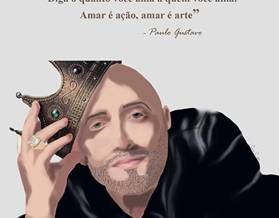 Homenagem ao ator Paulo Gustavo- Ilustração
