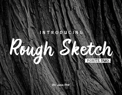 Rough Sketch - Duo fonts
