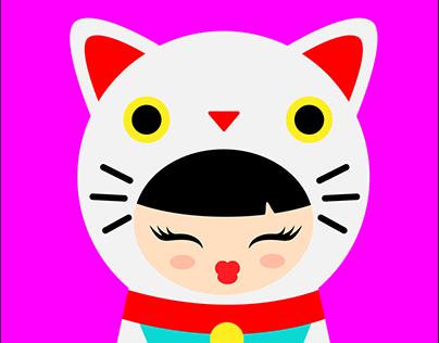 Maneki Neko Girl