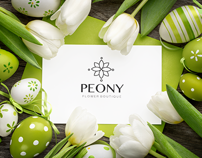 flower shop logo design
