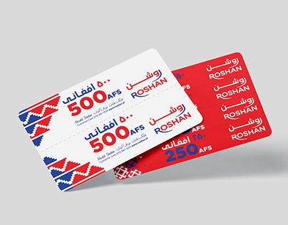Roshan Mobile Top-up card