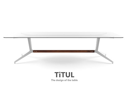 """""""TiTUL"""" The design of the table"""