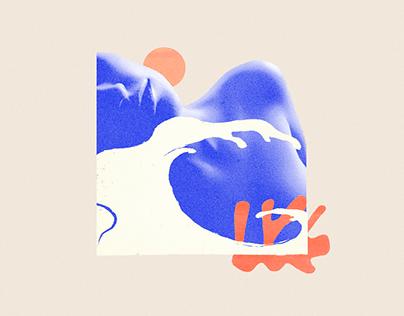 Blue Nudes - digital collages