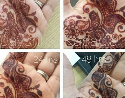 Henna colour after 48hours