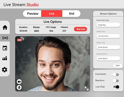 LiveStreaming UI Design (website) - XD DCC