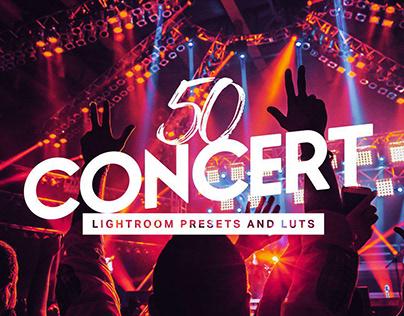 50 Concert Lightroom Presets LUTs